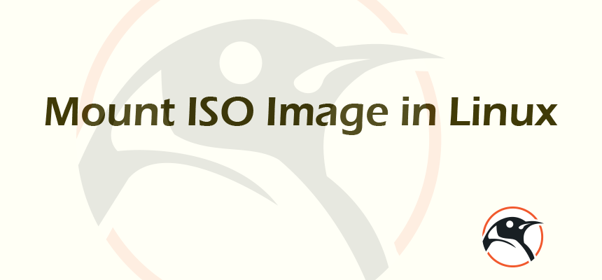 Mount ISO Image in Linux   Linux Pathfinder